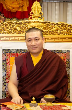 Thaye Dorje, His Holiness the 17th Gyalwa Karmapa, at the New Horizon Buddhist Association Bodhi Path Buddhist Centre in Hong Kong