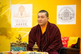 Thaye Dorje, His Holiness the 17th Gyalwa Karmapa, gives dharma teachings to over a thousand people
