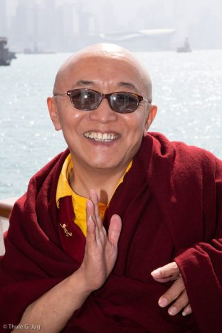 Venerable Sang Sang Rinpoche participated in the fish release ceremony