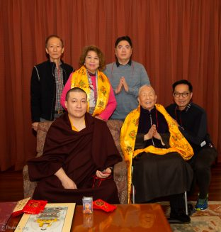 Karmapa with a group from Indonesia and China, kindly brought together by Master Shiah Jing Shan