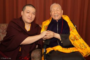 Karmapa with Master Shiah