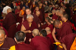 Centre: Jigme Rinpoche, Karmapa's General Secretary