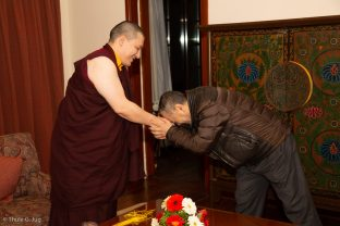 Karmapa granted several audiences to various groups and individuals for blessings and talks