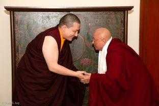 Karmapa and Chökyi Nyima Rinpoche