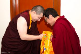 Thaye Dorje, His Holiness the 17th Gyalwa Karmapa, and Trungram Gyaltrul Rinpoche