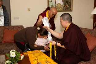 On Karmapa's final day in Nepal, he hosted many audiences