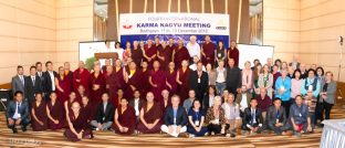 Group photo of participants at the Fourth International Karma Kagyu Meeting in Bodh Gaya