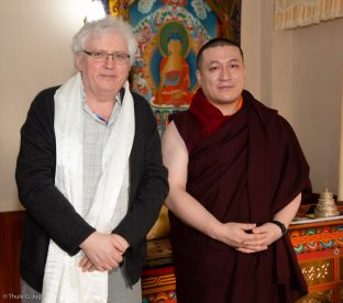 Thaye Dorje, His Holiness the 17th Gyalwa Karmapa, with Lama Jampa Thaye