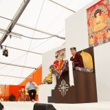 Thaye Dorje, His Holiness the 17th Gyalwa Karmapa, gives the empowerment of Chenresig to over 6,000 students at the Europe Center in Germany.
