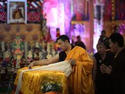 Shamar Rinpoche's mortal remains come to Kathmandu. Photo/Tokpa Korlo