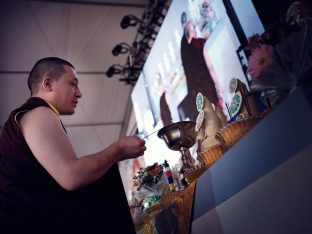 Day one in Dhagpo 2019: Thaye Dorje, His Holiness the 17th Gyalwa Karmapa, offers teachings and an empowerment to 3,000 students
