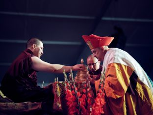 Day three in Dhagpo 2019: Thaye Dorje, His Holiness the 17th Gyalwa Karmapa, on the final day of his visit to Dhagpo Kagyu Ling. Photo / Tokpa Korlo