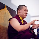 Thaye Dorje, His Holiness the 17th Gyalwa Karmapa, gave teachings on the 37 Practices of a Bodhisattva to over 6,000 students at the Europe Center in Germany. Photo / Tokpa Korlo