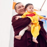 Traditional welcome ceremony for Thaye Dorje, His Holiness the 17th Gyalwa Karmapa, and Thugseyla at the Europe Center in Germany. Photo / Tokpa Korlo