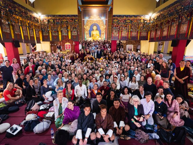 Karmapa at the KIBI Public Course 2019 (Photo/Tokpa Korlo)
