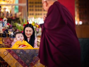 Sangyumla and Thugsey are greeted by Solponla Tsultrim Namgyal, Karmapa's Senior Attendant