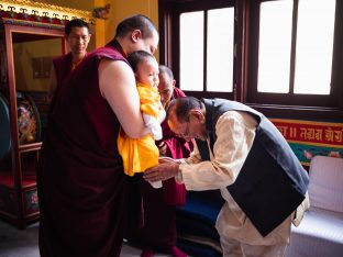 Professor Sempa Dorje meets Thugsey, the son of Thaye Dorje, His Holiness the 17th Gyalwa Karmapa