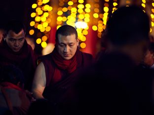 Thaye Dorje, His Holiness the 17th Gyalwa Karmapa, gives a Chenresig empowerment at Karma Temple, Bodh Gaya, India, December 2019. Photo / Tokpa Korlo