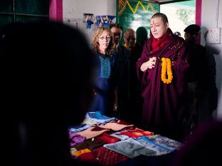 Thaye Dorje, His Holiness the 17th Gyalwa Karmapa, visits the Bodhi Tree School in Bodh Gaya, India, in December 2019 (Photo/Tokpa Korlo)