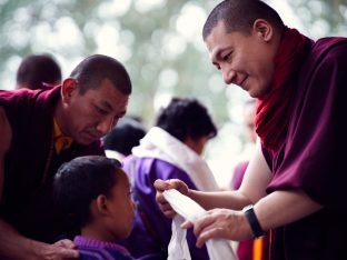Thaye Dorje, His Holiness the 17th Gyalwa Karmapa, on day two of the 2019 Kagyu Monlam, Bodh Gaya, India, December 2019 (Photo/Tokpa Korlo))