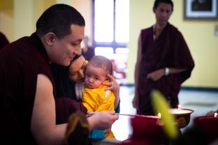 Karmapa, Sangyumla and little Thugsey at KIBI
