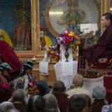 Thaye Dorje, His Holiness the 17th Gyalwa Karmapa, visits Takmachik. Photo / Magda Jungowska