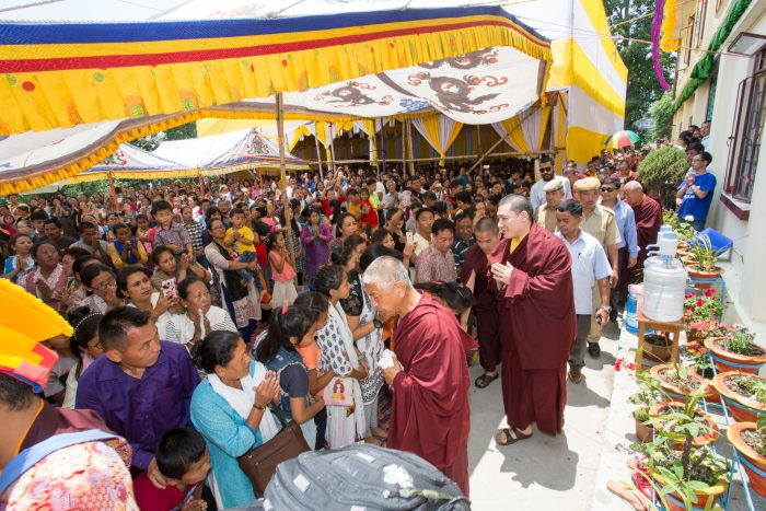 Empowerment of Amitayus, the Buddha of Long Life, given by Thaye Dorje, His Holiness the 17th Gyalwa Karmapa, to over 2,000 people who had travelled from the Himalaya region, India, and around the world. Photo / Magda Jungowska