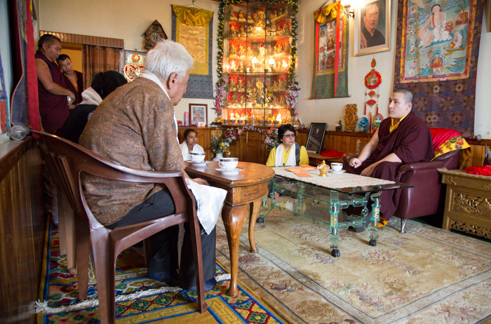 Audiences with Thaye Dorje, His Holiness the 17th Gyalwa Karmapa. Photo/Thule G. Jug