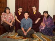 Members of the royal family of Bhutan with Thaye Dorje, His Holiness the 17th Gyalwa Karmapa