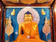 Vesak commemorates the birth, enlightenment, and death of the historical Buddha Shakyamuni
