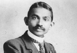 Mohandas K Gandhi, 2 October 1869 – 30 January 1948, pictured here in 1906.