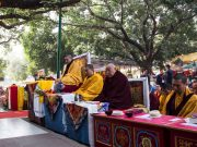 Kagyu Monlam in Bodh Gaya with Thaye Dorje, His Holiness the 17th Gyalwa Karmapa, 2015. Photo / Magda Jungowska