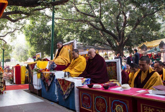 Kagyu Monlam in Bodh Gaya with Thaye Dorje, His Holiness the 17th Gyalwa Karmapa, 2015. Photo / Magda Jungowska