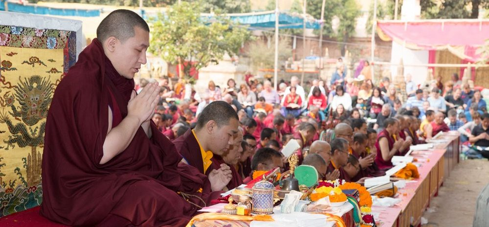 Kagyu Monlam in Bodh Gaya with Thaye Dorje, His Holiness the 17th Gyalwa Karmapa, 2015. Photo / Thule Jug
