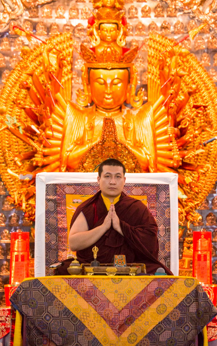 His Holiness Karmapa in Indonesia giving teachings and Buddhist refuge