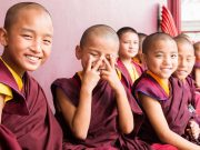 Children in a monastery of Thaye Dorje, His Holiness the 17th Gyalwa Karmapa