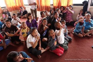 Oral hygiene lessons at the Medical-Dental Camp in Kathmandu