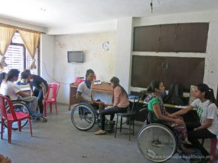 At Sertshang Orphanage in Kathmandu
