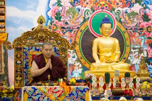 Thaye Dorje, His Holiness the 17th Gyalwa Karmapa, giving an empowerment of Dzambala