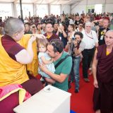 Thaye Dorje, His Holiness the 17th Gyalwa Karmapa, giving refuge in France 2015. Photo / Thule Jug