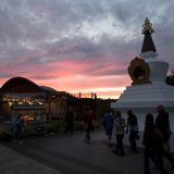 The view of the stupa at Dhagpo Kagyu Ling, France. Photo / Thule Jug