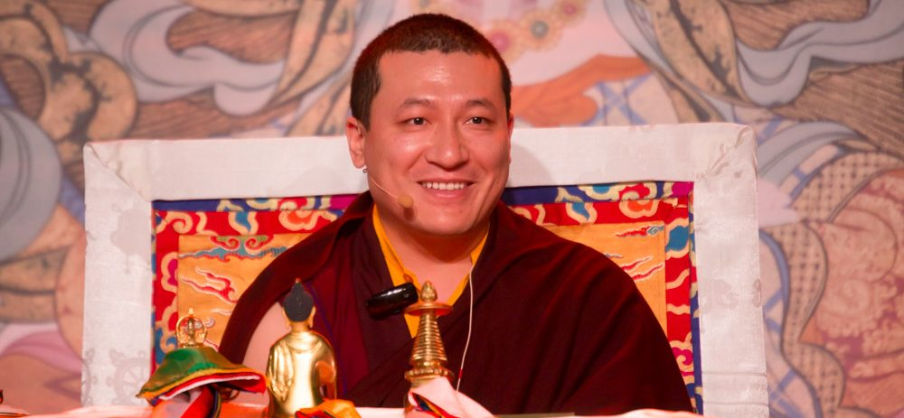 Thaye Dorje, His Holiness the 17th Gyalwa Karmapa, giving teaching and refuge in Montchardon, France
