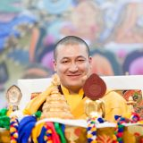 Thaye Dorje, His Holiness the 17th Gyalwa Karmapa teaching on the Bodhisattva Vow in France 2015. Photo / Tokpa Korlo