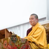 Thaye Dorje, His Holiness the 17th Gyalwa Karmapa teaching in France 2015. Photo / Tokpa Korlo