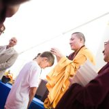 Thaye Dorje, His Holiness the 17th Gyalwa Karmapa giving refuge in France 2015. Photo / Tokpa Korlo