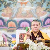 Thaye Dorje, His Holiness the 17th Gyalwa Karmapa, during the Chenresig empowerment in France 2015. Photo / Tokpa Korlo