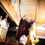 Thaye Dorje, His Holiness the 17th Gyalwa Karmapa, consecrating the Buddha statue in France 2015. Photo / Tokpa Korlo