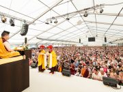 Thaye Dorje, His Holiness the 17th Gyalwa Karmapa, giving the empowerment of White Tara in Germany 2015. Photo / Tokpa Korlo