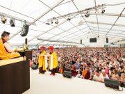 Thaye Dorje, His Holiness the 17th Gyalwa Karmapa, giving the empowerment of White Tara in Germany 2015. Photo / Tokpa Korlo