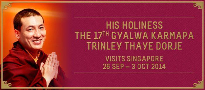 Karmapa visits Singapore 2014